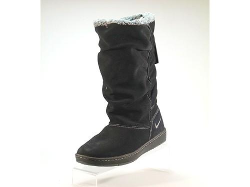 Nike-WMNS-Sneakers-Hoodie-Damen-Leder-Winterstiefel-schwarz-gefuettert-NEU-OVP