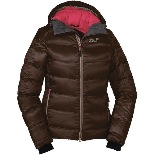 jack wolfskin svalbard jacket damen daunenjacke mocca. Black Bedroom Furniture Sets. Home Design Ideas