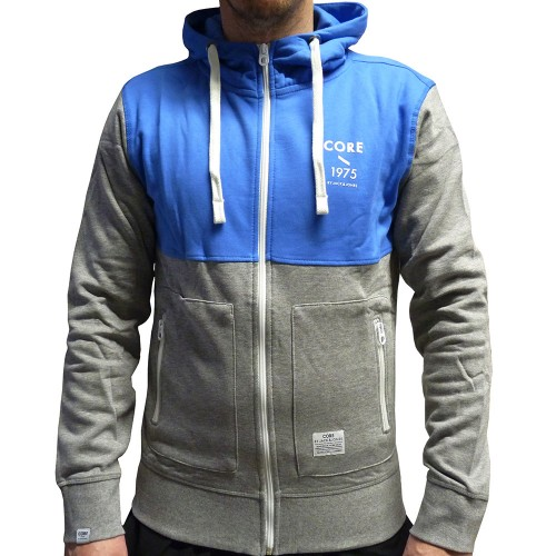 jack jones sweat core sweatjacke herren blau grau ebay. Black Bedroom Furniture Sets. Home Design Ideas