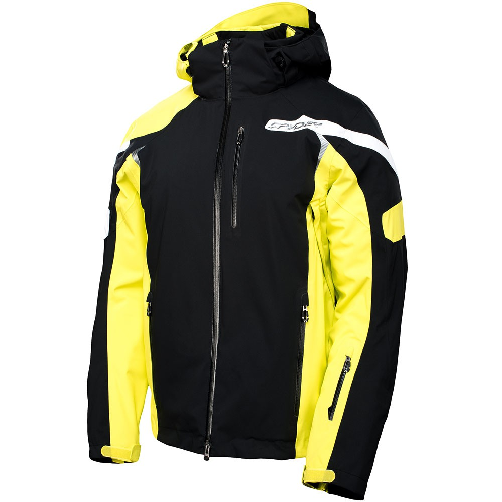 spyder titan jacket herren skijacke schwarz gelb ebay. Black Bedroom Furniture Sets. Home Design Ideas